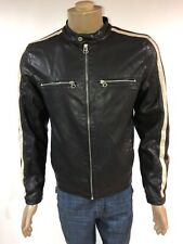 Wilsons Leather Soft Leather Biker Motocycle Jacket Fully Lined Men's Size S