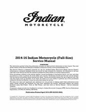 Indian Springfield Roadmaster Dark Horse 2014 2015 2016 service manual on CD