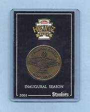 2001 HEINZ FIELD INNAUGURAL SEASON PITTSBURGH STEELERS COIN SCHEDULE MINT