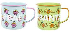 MR MEN & LITTLE MISS Enamel Mugs 100% Official Sets of 2