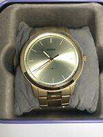 Fossil FS5462 Men's Stainless Steel Analog Gold Dial Quartz Genuine Watch ZK21