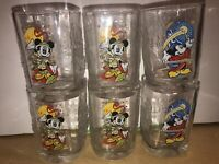 McDonalds Walt Disney World Year 2000 Celebration Glasses Set of 6 Mickey Mouse