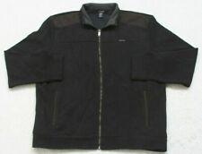 Calvin Klein Jeans Black Jacket Coat Mens Zipper Front Size Extra Large XL Mans