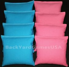 All Weather Cornhole Bean Bags Turquoise & Lite Pink Resin Filled Waterproof