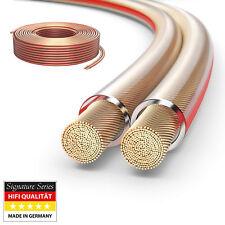 25m HiFi Boxen Lautsprecher kabel 2 x 2,5mm² 99,9% OFC Vollkupfer 0,20mm Litze