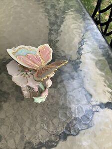 Beautiful LENOX  Pink & Blue Butterfly Figurine