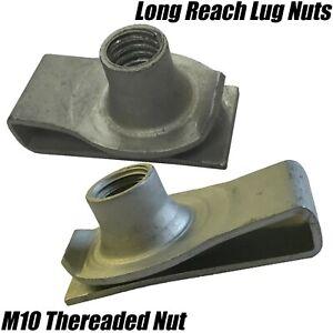 M10 LONG REACH CHIMNEY U NUT LUG NUTS SPEED SPIRE CAPTIVE CLIPS THREADED