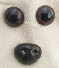 Trucraft - Brown Safety Eyes and Nose for Teddy Bears & Soft Toys Sizes S, M & L