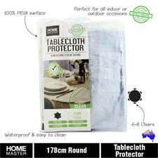 178cm Clear Plastic Table Cloth Cover PVC Tablecloth Protector Transparent Round