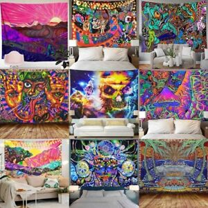Psychedelic  Background Cloth Painting Wall Hanging Home Decor Tapestry