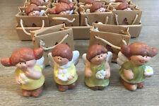 Angioletti in Porcellana con Shopper in 4 modelli assortiti - Bomboniera Nascita