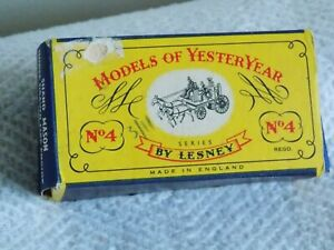 LESNEY/MATCHBOX MODELS OF YESTERYEAR . Y 4  2  Kent Fire. Boxed VGC #CP#