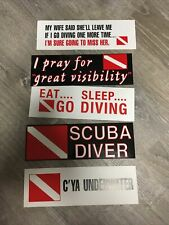 Scuba Diving Bumper Stickers 5 Sticker Lot