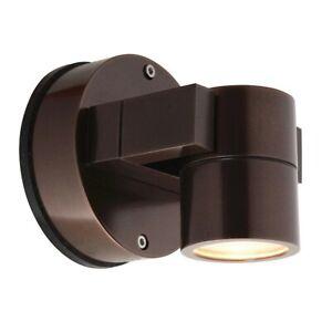 Access Lighting KO 1 Light GU-10 Wall Sconce, Bronze - 20351LEDDMGLP-BRZ-CLR