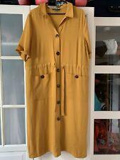 Mustard Yellow Shirt Dress Size 16 BNWOT