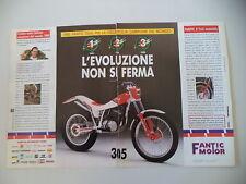 advertising Pubblicità 1989 MOTO FANTIC TRIAL 305 e THIERRY MICHAUD