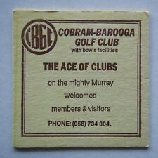 CBGC COBRAM-BAROOGA GOLF CLUB THE ACE OF CLUBS 058 734304 COASTER
