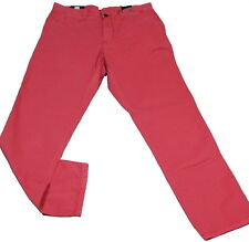 Tommy Hilfiger Jeans Hose Mercer Chino Sunset rot Baumwolle Weite 36 34 32 31 30