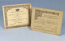 C1867 | artista John Seymour Lucas's Original los certificados de la escuela de arte St. Martins