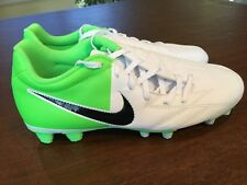 NEW Nike Total 90 T90 Shoot IV FG EURO 2012 Soccer Shoes White Neon Green Size 7