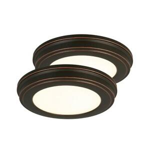 Commercial Electric Flush Mount Light-11in. Oil Rubbed Bronze Color Changing LED