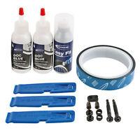 Schwalbe Tubeless Kit Easy 25 mm Komplettset für 2 Reifen Docblue, Ventile, Band
