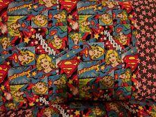 Supergirl pattern 100% new Cotton handmade Pillowcase one pair