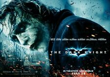THE DARK KNIGHT HEATH LEDGER JOKER MOVIE POSTER FILM A4 A3 ART PRINT CINEMA