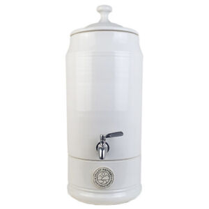 Ceramic Water Filter Purifier with Doulton Filter Cartridge White