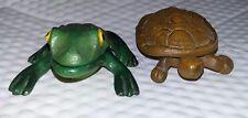 Vintage Cast Iron Turtle Hinged Match Safe Trinket Box Key Holder Garden Decor