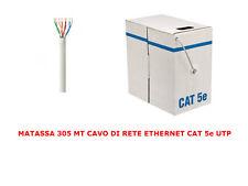 MATASSA 305 MT METRI CAVO DI RETE UTP CAT 5E LAN ETHERNET BOBINA 5 E ADSL MODEM