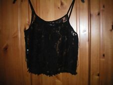 Black lace swing top size 12
