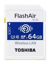 Toshiba 16GB 32GB 64GB FlashAir WiFi SD SDHC SDXC WLAN Card Flash Air EYEFI W-04
