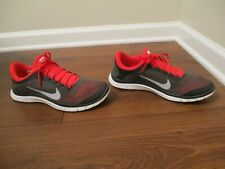Lightly Used Worn Size 11 Nike Free 3.0 V5 Shoes Gray Red White 580393 061
