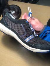 Women's 39 DANSKO Sneakers Shoes Black Blue Suede Mesh Bungee Tie Helen Style