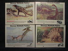 Scholastic Dinosaur Museum Puzzle lot of 4