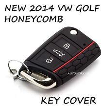 VW VOLKSWAGEN GOLF MK7 a nido d'ape AUTO 2014 2015 2016 2017 Chiave Copertura Custodia Nera