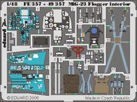 Eduard 1/48 mig-23 FLOGGER interior Pre-Pintados en color! Para Italeri #fe357