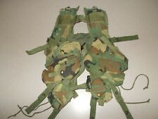 Load bearing vest tactical enhanced US military surplus woodland camo used