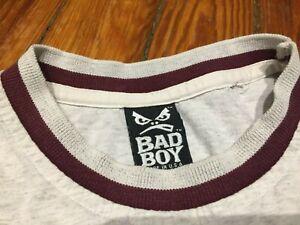 Vintage Bad Boy Club T Shirt Men Sewn Logo Graphic Skate Surf 1990's