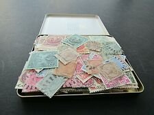 BARBADOS - VINTAGE COLLECTION IN OLD CIGAR TIN - QVIC TO 1950s - FEW 100s