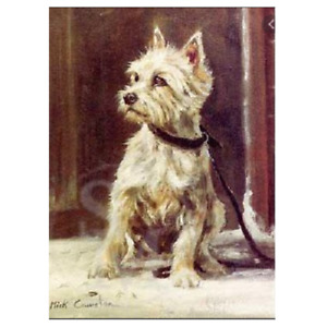 Sally Mitchell Card - 'The Westie' by Mick Cawston Blank Gift All Occasions Card
