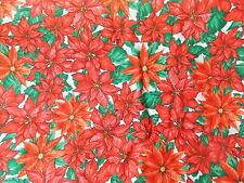 Estate Fabric Christmas Memories Poinsettia Floral Beck Daisy Kingdom  Quilt