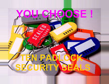 SECURITY SEALS, PADLOCK-STYLE, HIGHER-SECURITY, YOU SELECT THE COLOR / STYLE