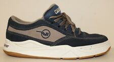 Vintage VANS Mens Disasters Sneaker Shoes Size 9 Blue/Gray Suede Leather Oxford