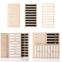 Wooden Jewelry Display Tray Multiple Rings Storage Holder for Window Displays