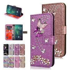 For Samsung Galaxy Note10 Plus Bling Diamond Flip Wallet Card Leather Case Cover