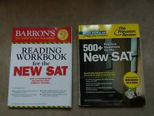 BARRON'S Reading Workbook & PRINCETON REVIEW 500+ Practice Questions for New SAT