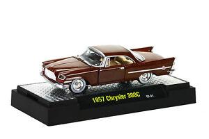 1957 Chrysler 300C braun, M2 Machines Auto Thentics (20D), 1:64