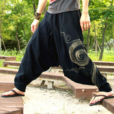 [TiKiTiKe] Hippie style Ethnic Hurricane One size man's baggy pants (Black)